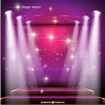 Pink spotlight stage