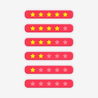 Pink star rating symbol for feedback