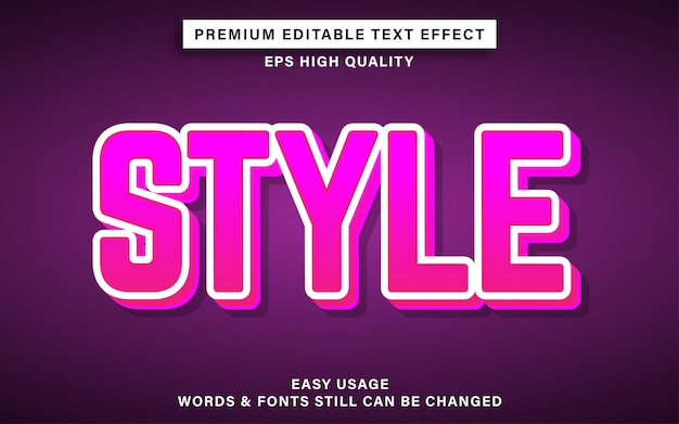 Pink style text effect