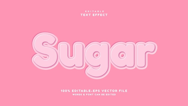 핑크 설탕 텍스트 스타일 효과