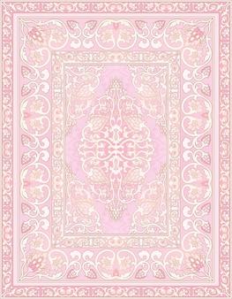 Pink template for carpet illustration