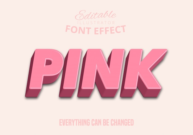 Pink text, editable text style