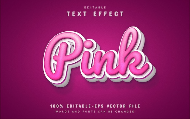 Pink text effect editable