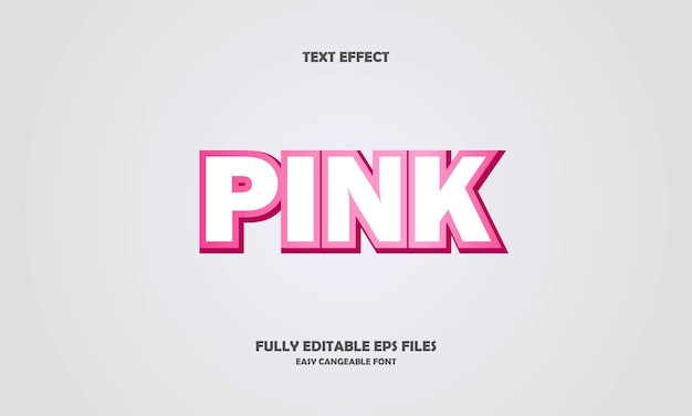 Pink text effect