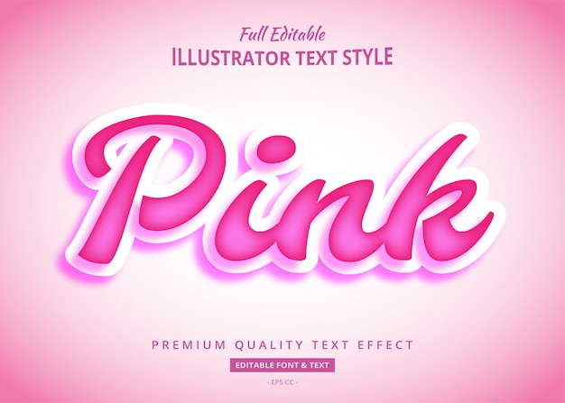 Pink text style effect