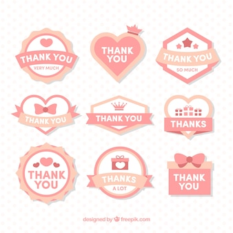 Pink thank you logo collection