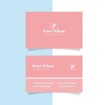 Розовые тона минимального шаблона визитной карточки