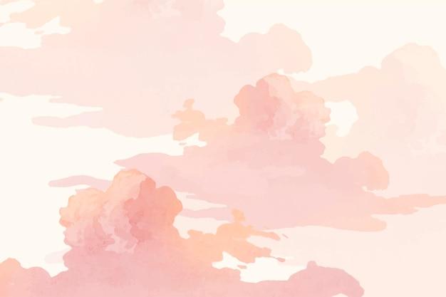 ピンクの木と空のバナーベクトル