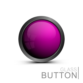 Pink trendy   button for web interface. modern round button