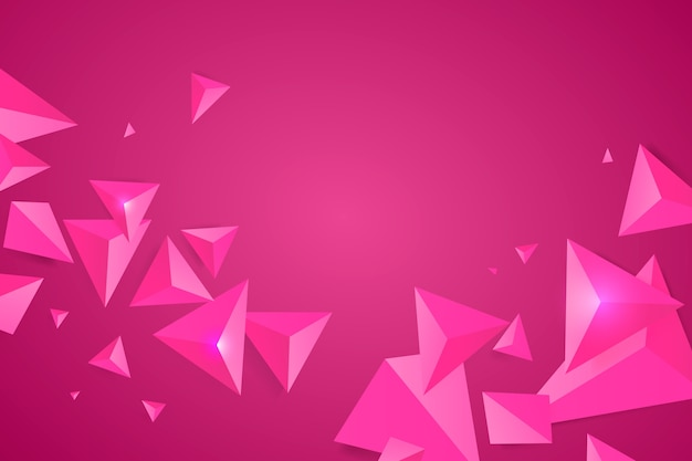 Pink triangle background with vivid colors