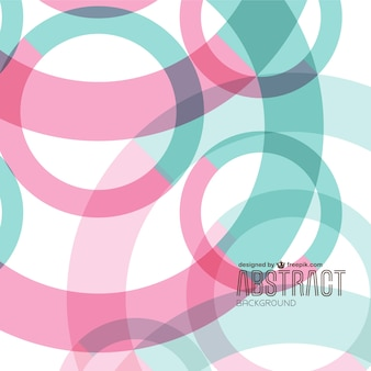 Pink and turquoise circles background