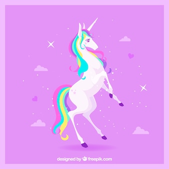 Pink unicorn background
