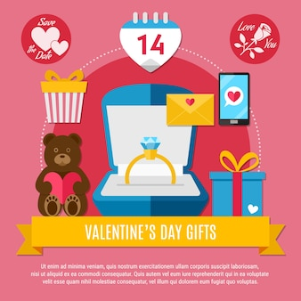 휴일 선물 반지 곰 sms 편지와 깜짝 핑크 발렌타인 구성
