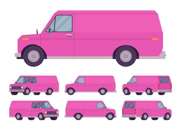 Pink van set