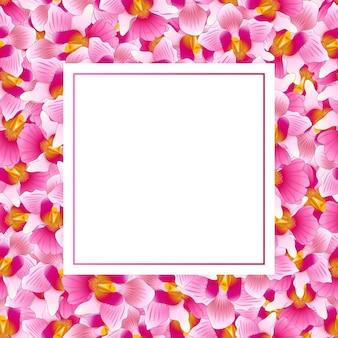 Pink vanda miss joaquim orchid banner card