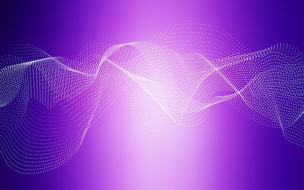 Pink vector background with bubbles
