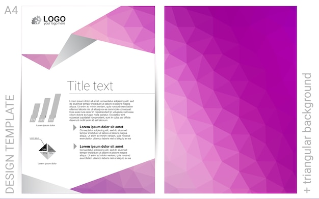 Pink vector  layout for leaflets