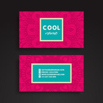 Pink vintage business card