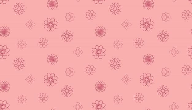 Pink vintage flower pattern