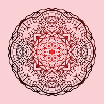Pink vintage mandala vector art