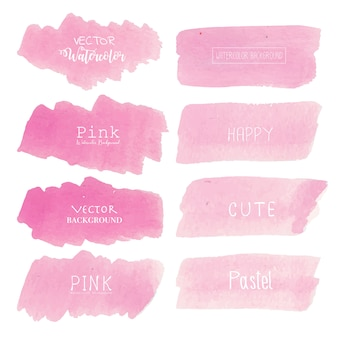 Pink watercolor background.