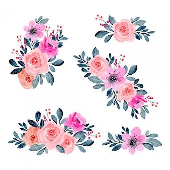 핑크 수채화 꽃꽂이 모음