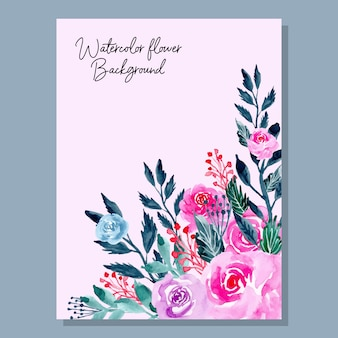 Pink watercolor flower background