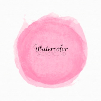 Pink watercolor paint stains background