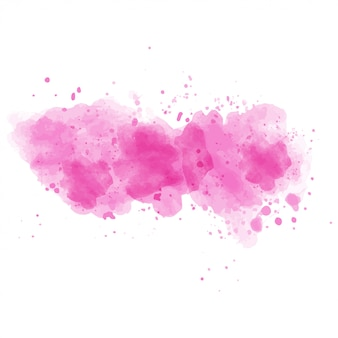 Pink watercolor painted vector stain isolated