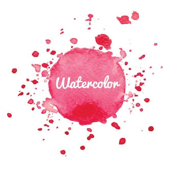 Pink watercolor splash background