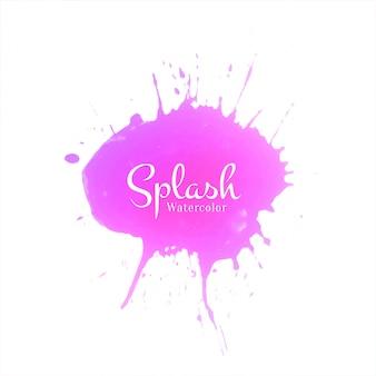 Pink watercolor splash design background
