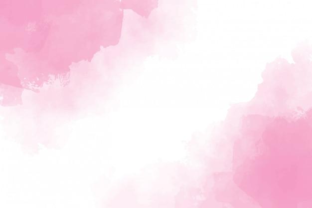 Pink watercolor wet splash background painting