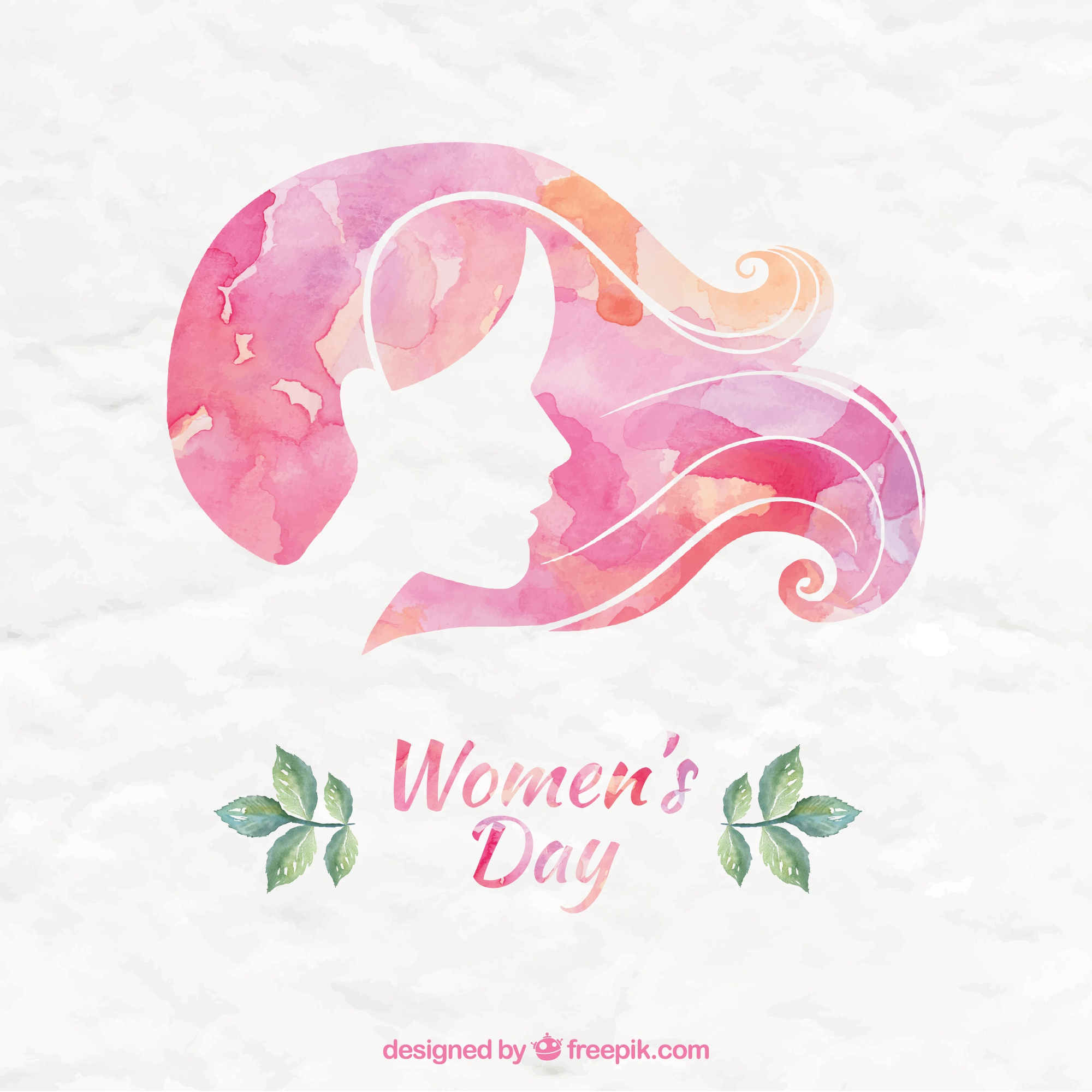 Pink Watercolor Women Day Background