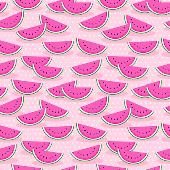 Pink watermelon seamless pattern.