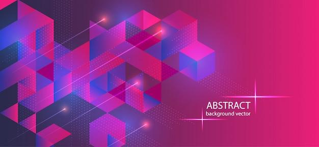 Pink waves background geometric shape technology digital.