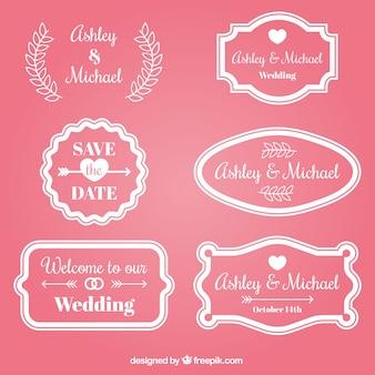 Raccolta distintivo di nozze rosa