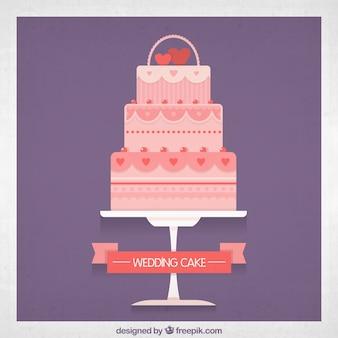Rosa torta nuziale