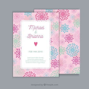 Pink wedding invitation concept