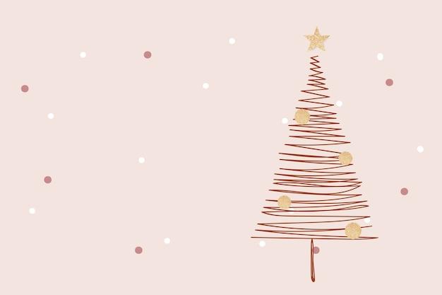 Розовый зимний фон, рождественский эстетический дизайн вектор