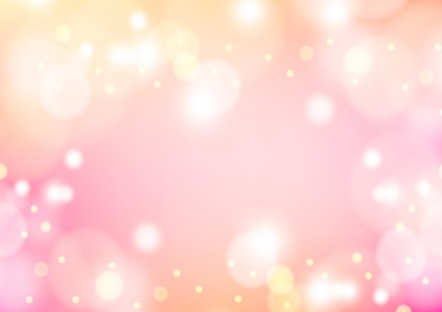 Pink winter background with bokeh christmas