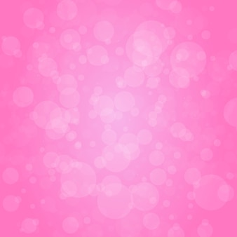 Pink with abstract round circle light bokeh