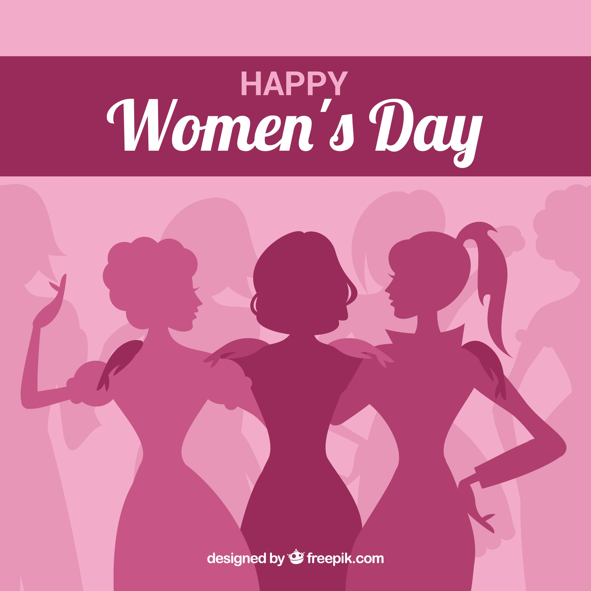 Pink women's day background