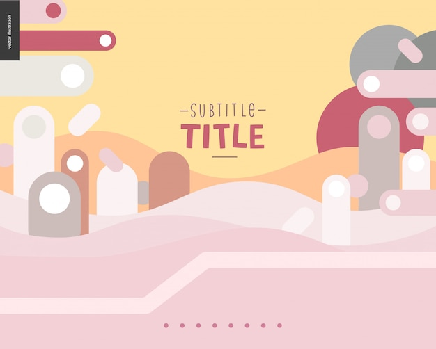 Pink and yellow landscape template design