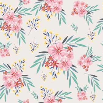 Pink and yellow seamless pattern