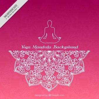 Rosa yoga background