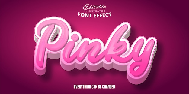 Pinky текст, 3-й редактируемый эффект шрифта