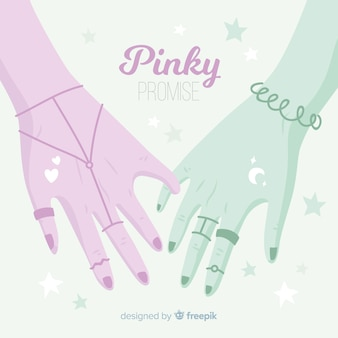 Pinky promise background