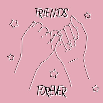 Pinky promise picture for friendship day