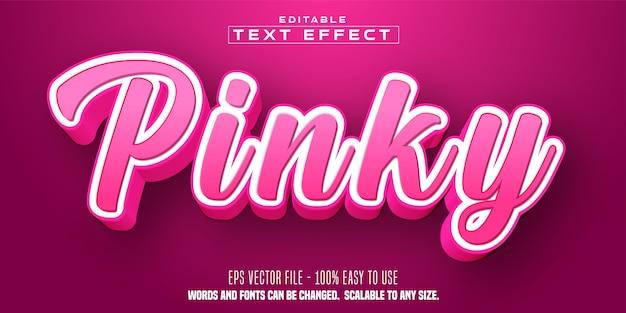 Pinky text, cartoon style editable text effect