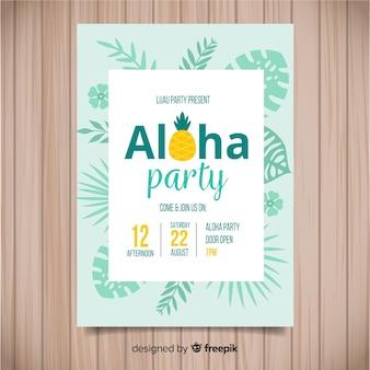 Pinneaple luau poster template